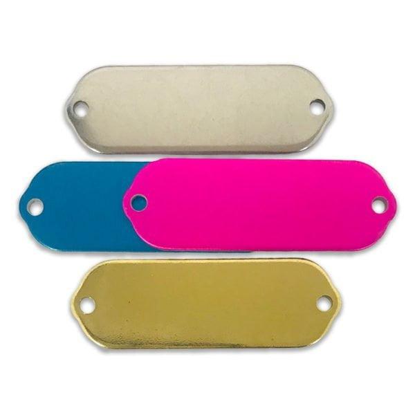 Rectangular Collar-Style Rivet-On Blank Tags