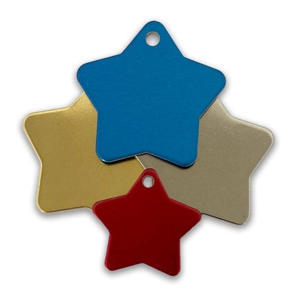 Star Shape Blank Tags