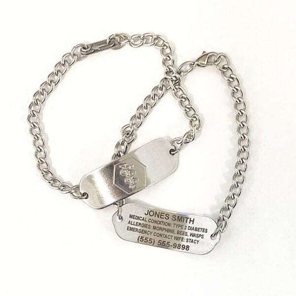 Medical Alert Bracelets with medical symbol