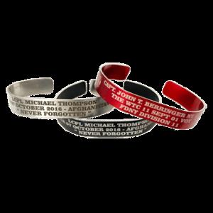 engraved memorial bracelets